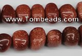 CNG43 15.5 inches 11*15mm nuggets goldstone gemstone beads