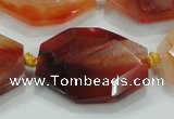 CNG446 15.5 inches 18*20mm � 30*42mm faceted nuggets agate beads