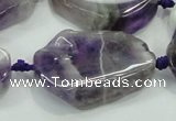 CNG453 15.5 inches 20*25mm - 25*40mm nuggets amethyst gemstone beads
