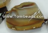 CNG455 15.5 inches 28*32mm - 40*55mm nuggets agate gemstone beads