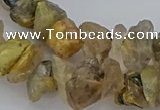 CNG5034 15.5 inches 8*12mm - 13*18mm nuggets golden rutilated quartz beads