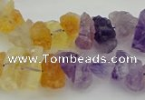 CNG5046 15.5 inches 6*12mm - 8*22mm nuggets amethyst & citrine beads
