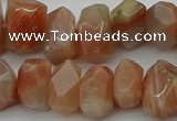 CNG5058 15.5 inches 10*14mm - 12*16mm faceted nuggets sunstone beads