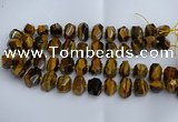 CNG5200 12*16mm - 15*20mm faceted nuggets yellow tiger eye beads
