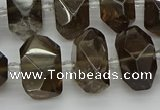 CNG5214 15.5 inches 12*16mm - 15*20mm faceted nuggets smoky quartz beads