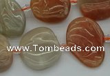 CNG5290 15.5 inches 13*18mm - 15*20mm freeform moonstone beads
