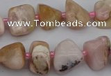 CNG5294 15.5 inches 8*12mm - 15*20mm nuggets pink opal gemstone beads