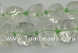 CNG5308 15.5 inches 8*15mm - 15*25mm nuggets green phantom quartz beads
