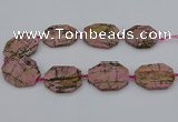 CNG5316 15.5 inches 25*35mm - 35*45mm freeform rhodonite beads