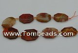 CNG5317 15.5 inches 25*35mm - 35*45mm freeform agate beads