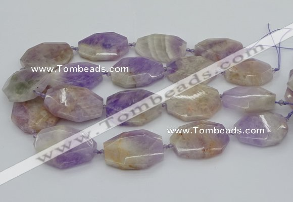 CNG5357 20*30mm - 35*45mm faceted freeform lavender amethyst beads