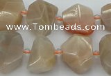 CNG5385 15.5 inches 12*16mm - 18*25mm faceted nuggets moonstone beads