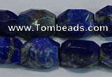 CNG5410 15.5 inches 12*16mm - 15*20mm faceted nuggets lapis lazuli beads