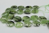 CNG5450 20*30mm - 35*45mm faceted freeform green rutilated quartz beads