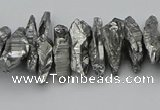 CNG5461 15.5 inches 6*10mm - 8*20mm nuggets plated quartz beads
