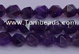 CNG5491 15.5 inches 6mm faceted nuggets amethyst gemstone beads