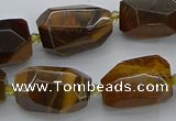 CNG5512 12*16mm - 15*25mm faceted nuggets yellow tiger eye beads