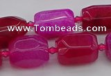 CNG5525 15.5 inches 12*16mm - 15*20mm faceted nuggets agate beads