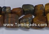 CNG5543 15.5 inches 10*14mm - 12*16mm nuggets yellow tiger eye beads