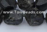 CNG5556 15.5 inches 15*20mm - 18*22mm nuggets black tourmaline beads