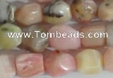 CNG556 15.5 inches 8*10mm nuggets pink opal gemstone beads