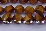 CNG5576 15.5 inches 6mm faceted nuggets yellow tiger eye beads
