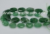 CNG5595 20*25mm - 25*35mm faceted freeform green strawberry quartz beads