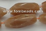 CNG5612 15.5 inches 15*35mm - 18*40mm faceted rice moonstone beads