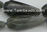 CNG5644 15.5 inches 15*35mm - 18*45mm faceted teardrop labradorite beads