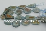 CNG5673 15.5 inches 25*35mm - 30*40mm freeform aquamarine beads