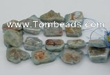 CNG5674 15.5 inches 30*40mm - 35*45mm freeform aquamarine beads