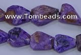 CNG5712 15.5 inches 12*16mm - 15*20mm faceted freeform charoite beads