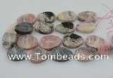 CNG5748 15.5 inches 25*35mm - 30*40mm freeform pink opal beads