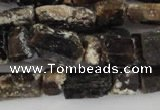 CNG576 5*6mm � 7*12mm nuggets black tourmaline gemstone beads
