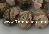 CNG5766 15.5 inches 12*16mm - 15*20mm faceted nuggets rhodochrosite beads