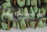 CNG578 15.5 inches 4*10mm nuggets african turquoise chips beads
