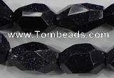 CNG582 15.5 inches 13*22mm faceted nuggets blue goldstone beads