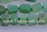 CNG5916 4*6mm - 6*10mm nuggets rough Australia chrysoprase beads