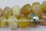CNG5929 15.5 inches 10*14mm - 13*18mm faceted nuggets yellow opal beads