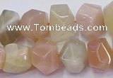 CNG5930 10*14mm - 13*18mm faceted nuggets rainbow moonstone beads