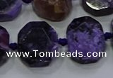 CNG5944 10*14mm - 12*16mm faceted freeform charoite beads