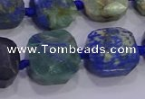 CNG5965 15.5 inches 12*14mm - 14*16mm faceted freeform chrysocolla beads