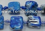 CNG6005 15.5 inches 12*16mm - 15*18mm nuggets agate beads