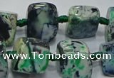 CNG6006 15.5 inches 12*16mm - 15*18mm nuggets agate beads