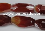 CNG601 12*28mm - 14*32mm faceted rice red agate nugget beads
