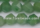 CNG6034 15.5 inches 12mm faceted nuggets green aventurine beads