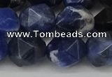CNG6037 15.5 inches 12mm faceted nuggets sodalite gemstone beads