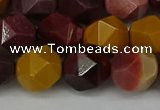 CNG6042 15.5 inches 12mm faceted nuggets mookaite gemstone beads