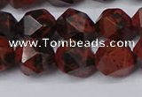 CNG6107 15.5 inches 8mm faceted nuggets mahogany obsidian beads