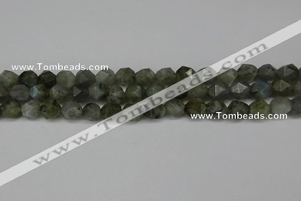 CNG6108 15.5 inches 8mm faceted nuggets labradorite beads
